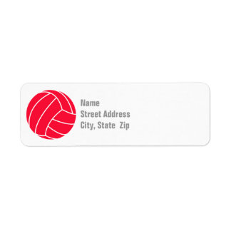 Scarlet Red Volleyball Label