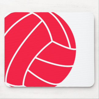 Scarlet Red Volleyball Mouse Pad