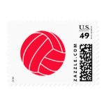 Scarlet Red Volleyball Postage