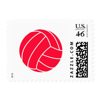 Scarlet Red Volleyball Postage Stamps