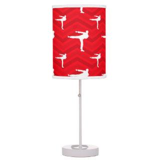 Scarlet Red, White, Chevron, Martial Arts, Karate Lamp