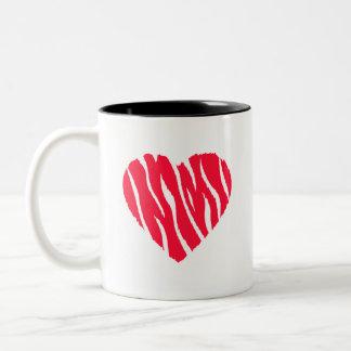 Scarlet Red Wild Heart Two-Tone Coffee Mug