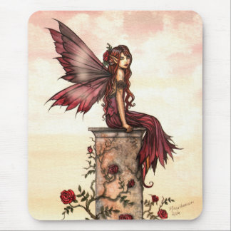 Scarlet Rose Fairy Fantasy Art Mousepad