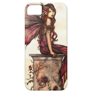 Scarlet Rose Fantasy Fairy Art iPhone Case iPhone 5 Cover