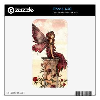 Scarlet Rose Fantasy Fairy iPhone 4 Skin