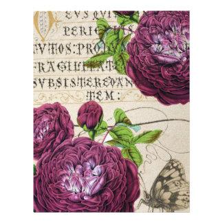 Scarlet Rose Manuscript Collage Letterhead