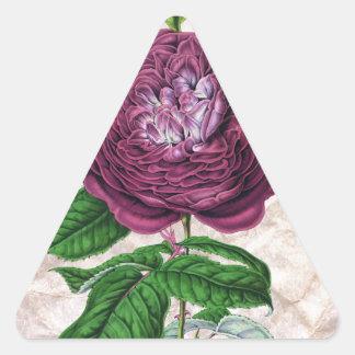 Scarlet Rose Triangle Sticker