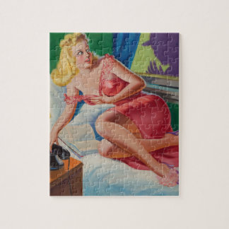 Scarlet Sinner's Final Exit Pin Up Art Jigsaw Puzzle