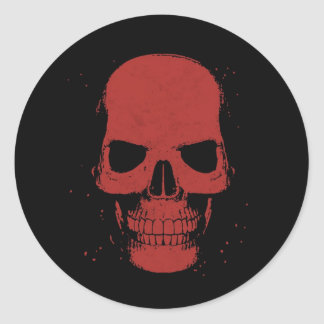 Scarlet Skull Sticker