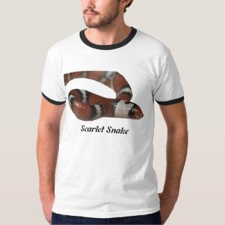 Scarlet Snake Ringer T-Shirt