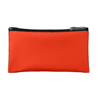 Scarlet Solid Color Cosmetic Bags