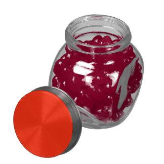 Scarlet Solid Color Glass Jars