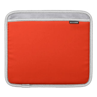 Scarlet Solid Color iPad Sleeve