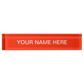 Scarlet Solid Color Nameplate