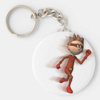 Scarlet Speedster Basic Round Button Keychain