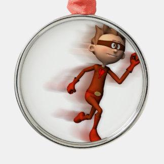 Scarlet Speedster Metal Ornament