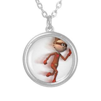 Scarlet Speedster Round Pendant Necklace