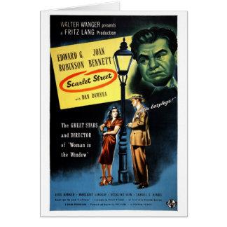 """Scarlet Street"" Card"