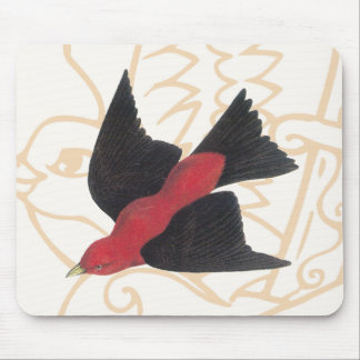 Scarlet Tanager a American Song Bird Mouse Pad