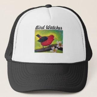 Scarlet Tanager Bird Trucker Hat