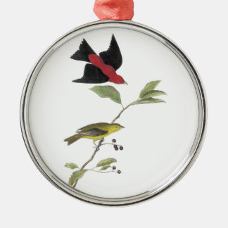 Scarlet Tanager by Audubon Metal Ornament