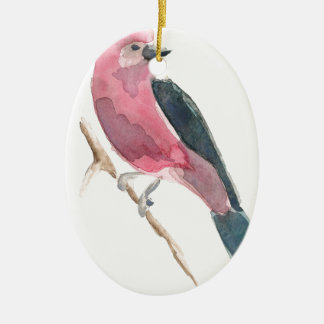 Scarlet Tanager Ceramic Ornament