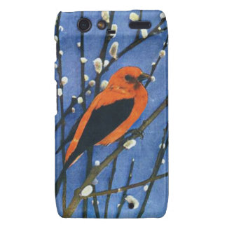 Scarlet Tanager Droid RAZR Covers