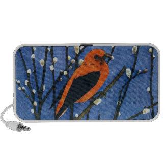 Scarlet Tanager Portable Speaker
