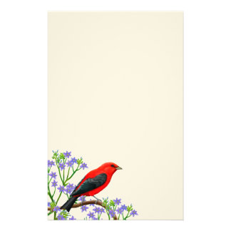 Scarlet Tanager Wild Bird Stationery