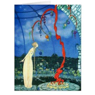 Scarlet Tree 1920 Large Greeting Card