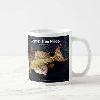 Scarlet Trim Pleco Classic White Coffee Mug