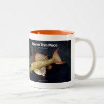 Scarlet Trim Pleco Two-Tone Coffee Mug