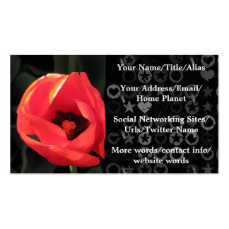 Scarlet Tulip Business Card