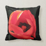 Scarlet Tulip Throw Pillows