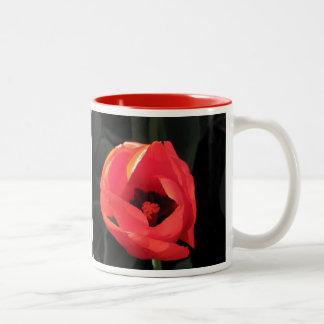 Scarlet Tulip Two-Tone Coffee Mug