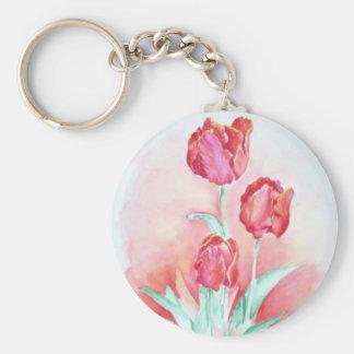 Scarlet Tulips Keychain