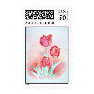 Scarlet Tulips Stamp