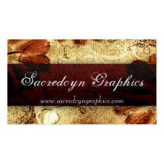 Scarlet Vintage Grunge Elegant Fashion Business Card Templates