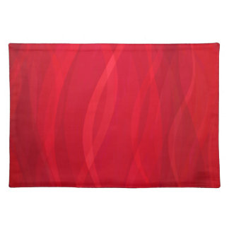 Scarlet waves steamy abstract placemat