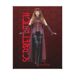 Scarlet Witch Character Art Canvas Print