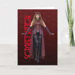 Scarlet Witch Character Art Card
