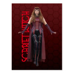 Scarlet Witch Character Art Postcard