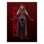 Scarlet Witch Character Art Poster