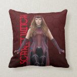 Scarlet Witch Character Art Throw Pillow