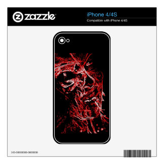 Scarlet Zombie iphone4/4S Zazzle Skin Decals For iPhone 4S