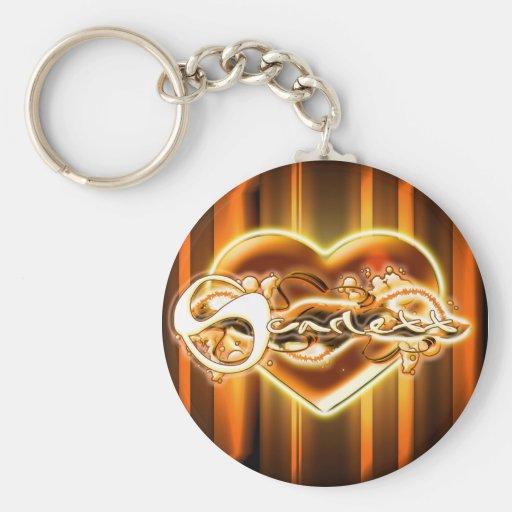 Scarlett Basic Round Button Keychain
