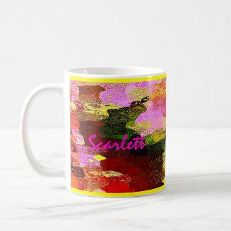 Scarlett customized tea mug