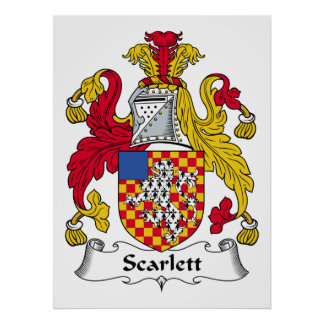 Scarlett Family Crest Print