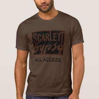 Scarlett Gypsy Band Logo Men's Glam Rock T-shirt