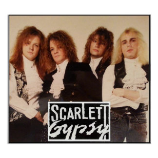 Scarlett Gypsy Glam Metal Rock Band Poster